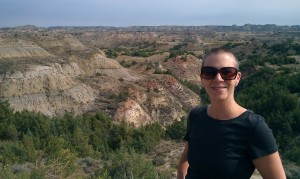 Hiking in the Badlands.