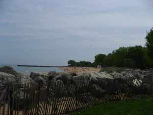 Overlooking Lake Michigan, at Dawes Park.