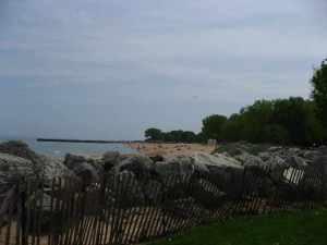 Overlooking Lake Michigan, at Dawes Park.