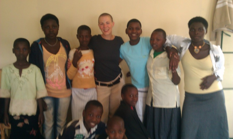 "In Rwanda with a gaggle of what my girlfriend referred to as ""Little Lesleys."""