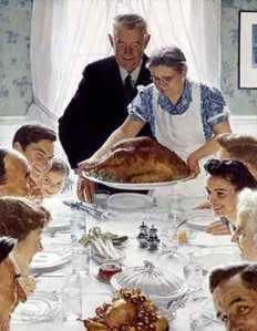 """Norman Rockwell.  """"Freedom From Want."""""""