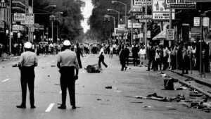 The aftermath.  Detroit Free Press photograph.  Public Domain.