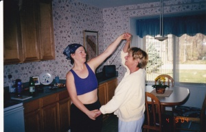 Post-run, swing dancing.  Another cool moment with my mother.