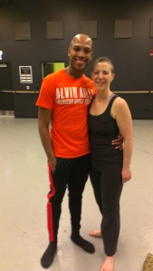 After class.  All smiles, with Antonio Douthit-Boyd.