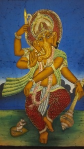 Ganesh batik in my bedroom.