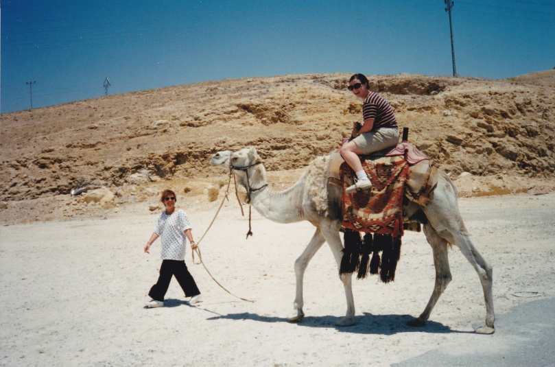 Patsy and I in Israel, nearly 20 years ago.