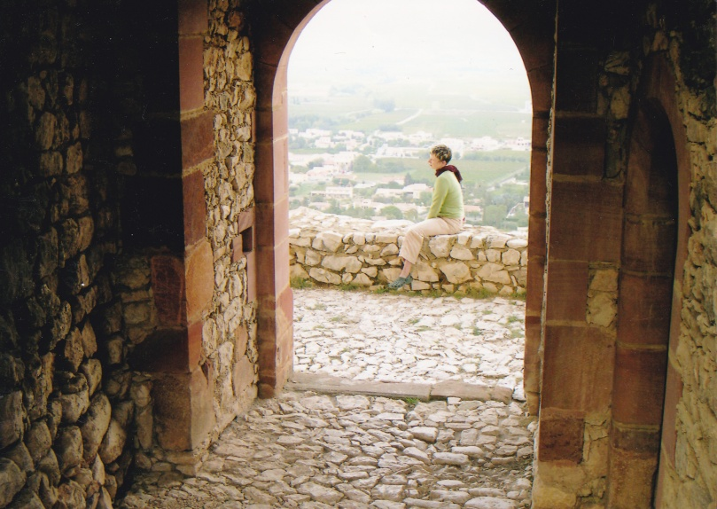 Final moments in St. Victor la Coste, France.  I hiked up to this crumbling castle every day.